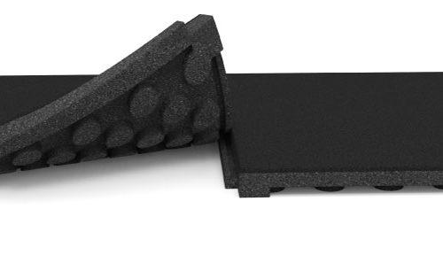 High Impact rubber gym tile