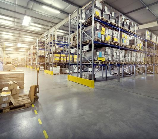 Warehouse interior flooring