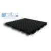 Black interlocking deck patio and court tile