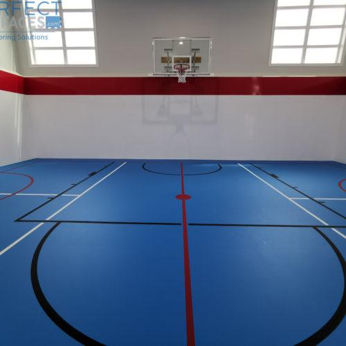 pad and pour urethane sports flooring