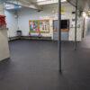 Arena vulcanized rubber floors
