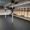 Rubber mats for hockey dressing room