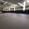 SPCA seamless pad and pour flooring
