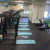 Commercial gym custom rubber gym floor