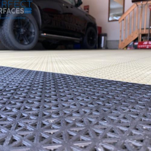 Grid Tiles garage flooring