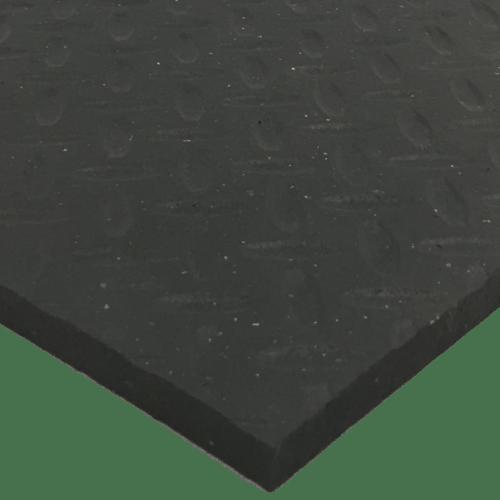 Black Checker Agricultural Rubber Matting