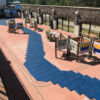 Rubber tiles for walkway outdoor patio