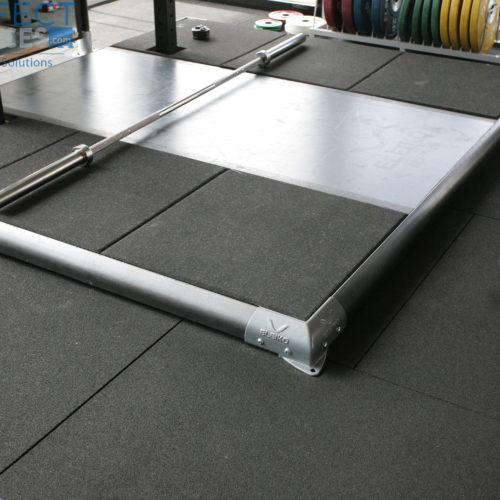 deadlift platform rubber gym tile