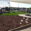 outdoor turf parks and playgrounds