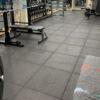 home gym heavy duty rubber black tile