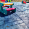 daycare outside rubber tiles
