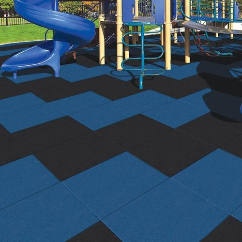 Playground rubber safety surfacing tiles