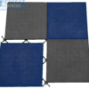 Blue and grey outdoor backyard rubber tile