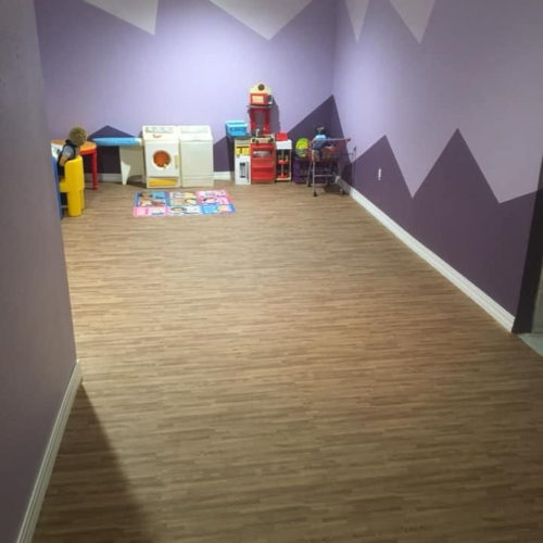 EVA foam wood grain interlock tile for daycare