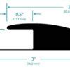 reducer edge ramp for rubber floor