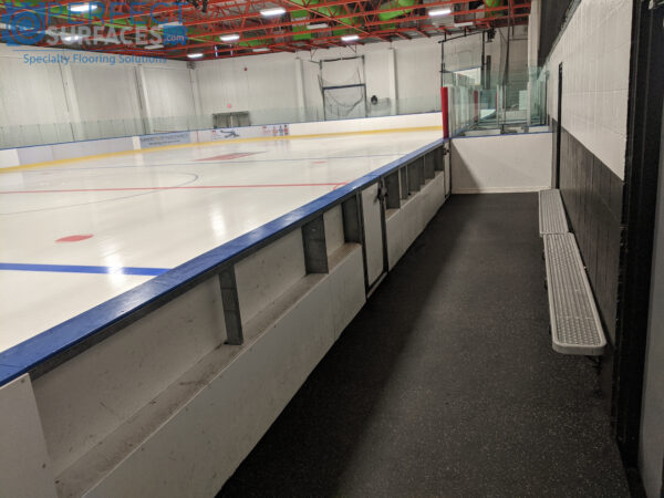 grey speckled ice arena rubber mats