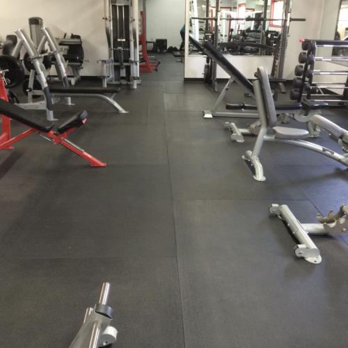 Heavy duty rubber gym mat
