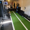 Artificial athletic sprint turf