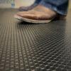 black rubber horse stall mats
