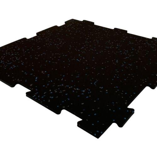 speckled blue grey interlocking vulcanized rubber tile