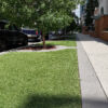 artificial turf in front of condo