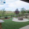 backyard artificial landscape grass